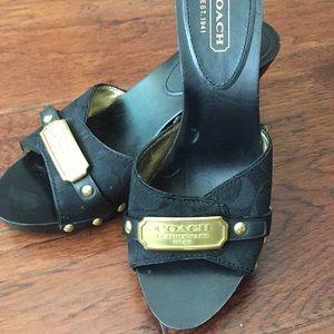 Coach slip on sandals, size 8